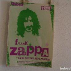 Fotos de Cantantes: FRANK ZAPPA CARTEL ORIGINAL MADRID 1979 GIRA TOUR 69X50. Lote 246488045