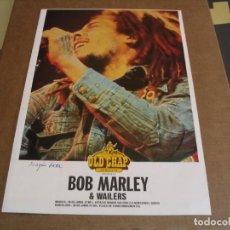 Fotos de Cantantes: BOB MARLEY & THE WAILERS TOUR BOOKLET DÍPTICO OLD CHAP ORIGINAL BARCELONA 1980 GIRA. Lote 246488345