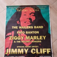 Fotos de Cantantes: BOB MARLEY ZIGGY MARLEY JIMMY CLIFF REGGAE ANTIGUO POSTER 1995 BCNA OPORTUNIDAD COLECCIONISTAS. Lote 252288285