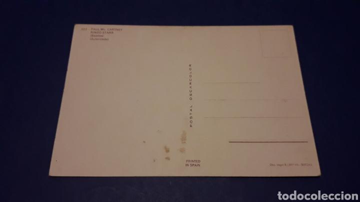 Fotos de Cantantes: Tarjeta Postal The Beatles Ringo Starr y Paul McCartney, Oscarcolor printed in Spain, 15 x 10 cms. - Foto 2 - 252915530