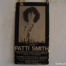 Photos de Chanteurs et Chanteuses: RESERVADO MARCOS PATTI SMITH CARTEL ORIGINAL GIRA TOUR 1976 BADALONA 65X35. Lote 253667415