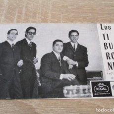 Fotos de Cantores: CONJUNTO LOS TIBURONES. DISCOS REGAL-EMI. PARQUE DEPORTES DEL (REUS DEPORTIVO). Lote 254575525
