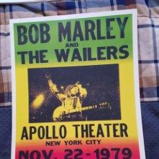 Fotos de Cantantes: BOB MARLEY: REPRO POSTER ACTUACION APOLLO THEATHER 1979 SUPER OPORTUNIDAD COLECCIONISTAS. Lote 254760865