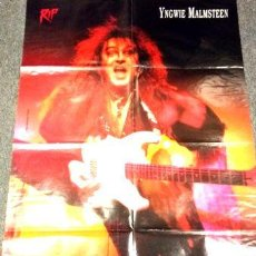 Fotos de Cantantes: POSTER TRIPLE INGWIE MALMSTEEN PEARL JAM QUIREBOYS. Lote 255175650