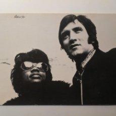 Fotos de Cantantes: TARJETA POSTAL PROMOCIONAL DANNY & DONNA SINGLE EL VALS DE LAS MARIPOSAS 1971 COLUMBIA. Lote 261982355
