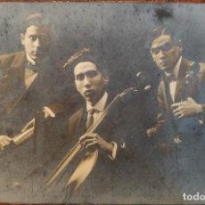 Fotos de Cantantes: FOTO ORIGINAL. TRÍO DE BARCELONA. DEDICADA POR LOS MÚSICOS EN REVERSO. 1917.. Lote 262374275