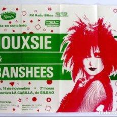 Fotos de Cantantes: SIOUXSIE & THE BANSHEES. CARTEL ORIGINAL PROMOCIONAL CONCIERTO EN BILBAO EN 1984.. Lote 263262195