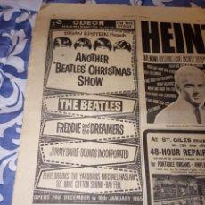 Fotos de Cantantes: BEATLES ANOTHER CHRISTMAS SHOW ANUNCIO PERIÓDICO ORIGINAL CONCIERTO HAMMERSMITH ODEON 1964L. Lote 264957329