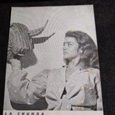 Fotos de Cantantes: POSTAL * LA CHUNGA * EMPORIUM , HOMENAJE Y DESPEDIDA DOMINGO. Lote 267651704