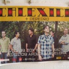 Fotos de Cantantes: CALEXICO + DEPEDRO CARTEL ORIGINAL TOUR GIRA 2009 BARCELONA MADRID 72X102. Lote 269402093