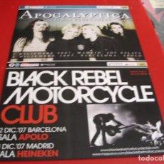 Fotos de Cantantes: APOCALYPTICA BLACK REBEL MOTORCYCLE CARTEL ORIGINAL TOUR GIRA 2007 ESPAÑA 42X30. Lote 269402353