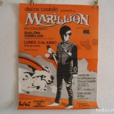 Fotos de Cantantes: CARTEL ORIGINAL MARILLION BARCELONA 1985 MISPLACED CHILDHOOD 87X63. Lote 175768917