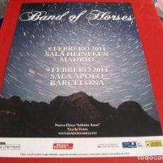 Fotos de Cantantes: BAND OF HORSES CARTEL ORIGINAL TOUR GIRA 2011 ESPAÑA 42X30. Lote 269403813