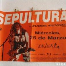 Fotos de Cantantes: SEPULTURA + FUDGE TUNNEL CARTEL ORIGINAL TOUR GIRA 1992 BARCELONA 86X125. Lote 269404418