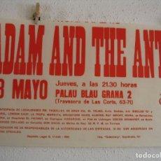 Fotos de Cantantes: ADAM AND THE ANTS CARTEL ORIGINAL BARCELONA 1981 GIRA TOUR 44X70. Lote 272437188