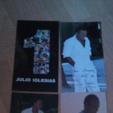 Fotos de Cantantes: JULIO IGLESIAS 3 FOTOS FIRMAS SERIGRAFIADAS. DE LA PROMOCION DE 3 DVD SONY 2011.. Lote 275758543