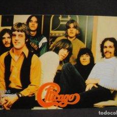 Fotos de Cantantes: CHICAGO - TARJETA PROMOCIONAL DISCOS C.B.S. Lote 277115208