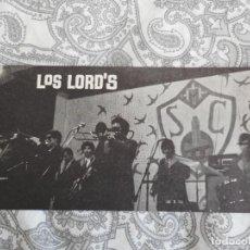 Fotos de Cantantes: ANTIGUA TARJETA.GRUPO MUSICAL LOS LORD'S. ESPECTACULOS FANNE.BARCELONA AÑOS 60.70. Lote 277638083