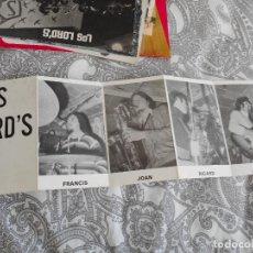 Fotos de Cantantes: ANTIGUA TARJETA.GRUPO MUSICAL LOS LORD'S. AÑOS 60.70. Lote 277638308