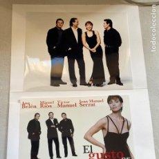 Fotos de Cantantes: CARPETA PRENSA CON FOTOS EL GUSTO ES NUESTRO 1996, SERRAT, ANA BELÉN...VER FOTOS.3,33 ENVÍO CERT.. Lote 278803153