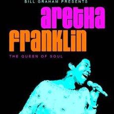 Fotos de Cantantes: ARETHA FRANKLIN POSTER 30X42 QUEEN OF SOUL TOUR POP ART. Lote 278914738
