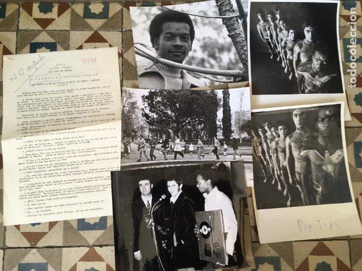 Fotos de Cantantes: los pop tops lote 5 fotos originales antiguas y hoja de la discografica - Foto 2 - 284745363