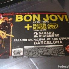 Photos de Chanteurs et Chanteuses: BON JOVI CARTEL ORIGINAL BARCELONA 1989 GIRA TOUR 33X48. Lote 285257003