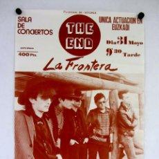 Fotos de Cantantes: LA FRONTERA. CARTEL PROMOCIONAL CONCIERTO SALA THE END (VITORIA), AÑOS 80.. Lote 285484768