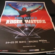 Photos de Chanteurs et Chanteuses: ROGER WATERS PINK FLOYD CARTEL ORIGINAL MADRID 2018 GIRA TOUR 100X70. Lote 288032173
