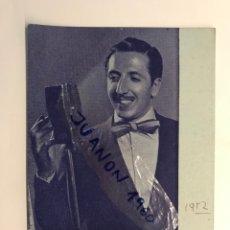 Fotos de Cantantes: FOTOGRAFÍA JORGE SEPULVEDA, CANTANTE VALENCIANO.. AUTÓGRAFO ORIGINAL (A.1952). Lote 289518078