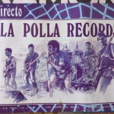 Fotos de Cantores: LA POLLA RECORDS POSTER CARTEL ORIGINAL CONCIERTO PAMPLONA IRUÑA. Lote 290711423