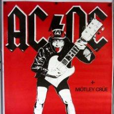 Fotos de Cantantes: AC/DC + MOTLEY CRUE. HISTÓRICO CARTEL ORIGINAL CONCIERTO EN SAN SEBASTIÁN EN 1984?. RAREZA.. Lote 290941218