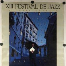 Fotos de Cantantes: XIII FESTIVAL DE JAZZ DE VITORIA - GASTEIZ 1989. CARTEL PROMOCIONAL DEL FESTIVAL.. Lote 291313198