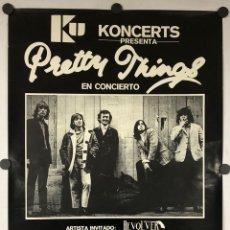 Fotos de Cantantes: THE PRETTY THINGS + REVOLVER. HISTÓRICO CARTEL PROMOCIONAL CONCIERTO SAN SEBASTIÁN (1981).. Lote 291316068