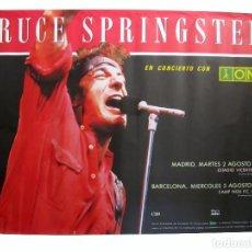 Fotos de Cantantes: BRUCE SPRINGSTEEN. HISTÓRICO CARTEL ORIGINAL CONCIERTOS VICENTE CALDERÓN Y CAMP NOU (1988).. Lote 291857113