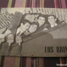Fotos de Cantantes: TARJETA LOS BRINCOS PROMOCIONAL ZAFIRO NOVOLA. Lote 295430458
