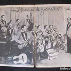 Fotos de Cantantes: UNIO ARTISTICA DE GRANOLLERS-PUBLICITAT ANTIGA-IMP CUCURELLA-VEURE FOTOGRAFIES-(85.187). Lote 295526798