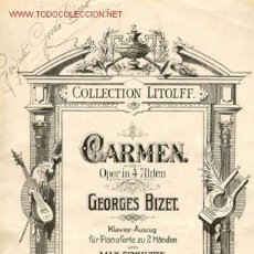 Libretos de ópera: ÓPERA, CARMEN DE BIZET, EN 4 ACTOS. Lote 27240071
