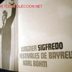 Libretos de ópera: LIBRETO DE SIGFREDO. Lote 3196915