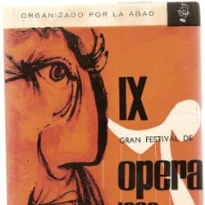 Libretos de ópera: SIMON BOCCANEGRA / VERDI. IX FESTIVAL DE OPERA 1960. ORGANIZADO POR ABAO.. Lote 4510290