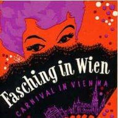 Libretos de ópera: FOLLETO PROGRAMACIÓN FASCHING IN WIEN. CARNIVAL IN VIENNA. CALENDARIO 1960. Lote 26775989