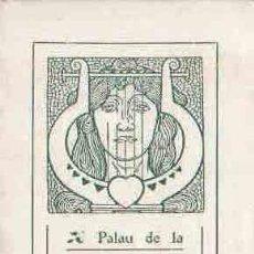 Libretos de ópera: PROGRAMA DEL PALAU DE LA MUSICA (ORFEO CATALA) 8 JANER 1910. Lote 8288859
