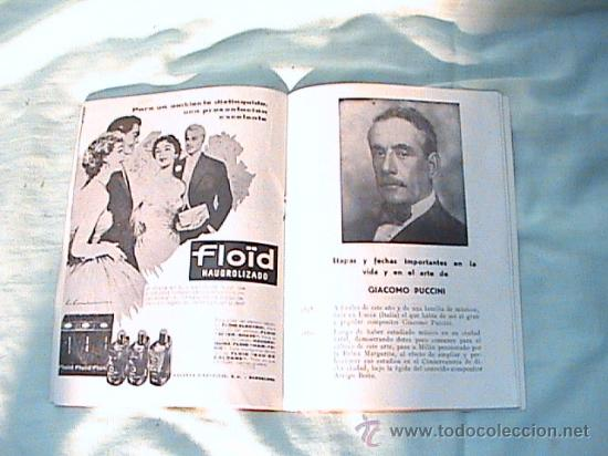 Libretos de ópera: PROGRAMA DE MANO DEL GRAN TEATRO DEL LICEO, TEMPORADA DE ÓPERA, INVIERNO 1962-1963 - Foto 2 - 25511734