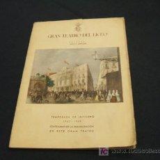 Libretos de ópera: PROGRAMA GRAN TEATRO DEL LICEO - TEMPORADA DE INVIERNO 1947/1948. Lote 21934538