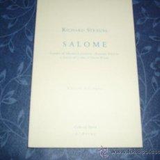Libretos de ópera: LIBRETO DE SALOME, DE RICHARD STRAUSS. Lote 26001106