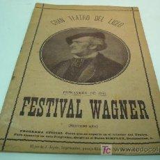 Libretos de ópera: OPERA-WAGNER-GRAN TEATRO DEL LICEO. Lote 20798525