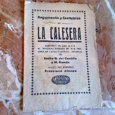 Livrets d'opéra: LA CALESERA . Lote 22810146