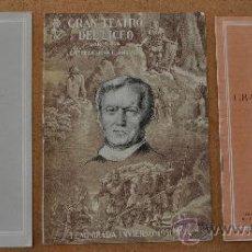 Libretos de ópera: LOTE DE 3 PROGRAMAS MUSICALES DEL LICEO. LICEU. BARCELONA. TODOS DISTINTOS. 1951-52, . Lote 34067710