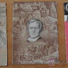 Libretos de ópera: LOTE DE 3 PROGRAMAS MUSICALES DEL LICEO. LICEU. BARCELONA. TODOS DISTINTOS. 1951-52, NEW YORK.. Lote 23606289