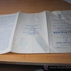 Libretti di opera: TRIPTICO PRESENTACION DE LA OPERA RIGOLETTO EN EL CENTRO GALLEGO DE MADRID APROX 1955. Lote 22691752
